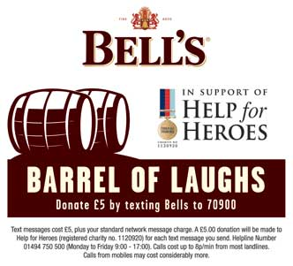A barrel of laughs to help the heroes
