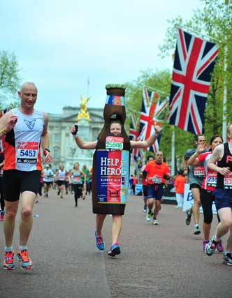 help for heroes bottle London Marathon