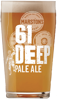 Marstons 61 deep pint glass